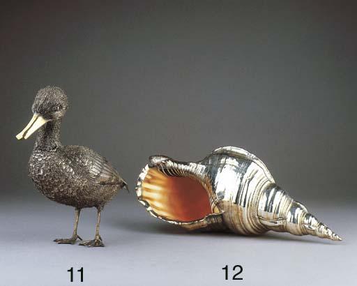 An Italian silvered shell