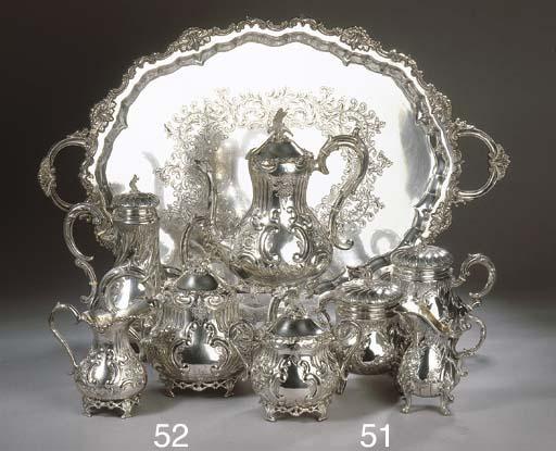 A French silver four-piece cof