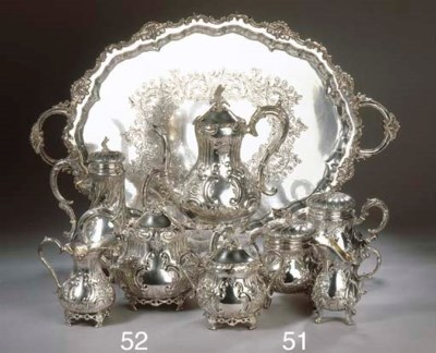 A French silver four-piece cof