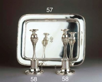 A Dutch silver tray