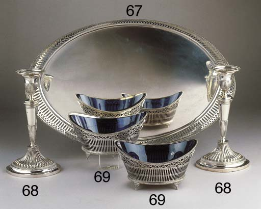 Two Dutch silver baskets with