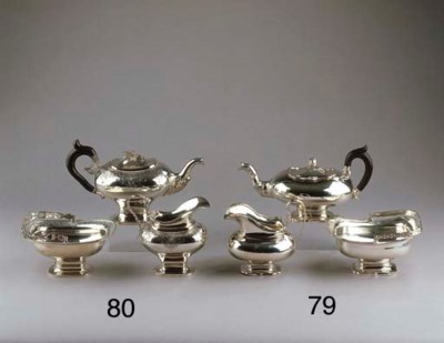 A Dutch silver teaservice