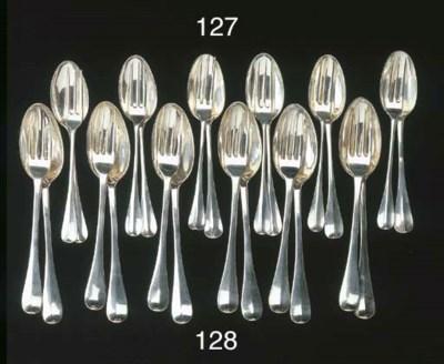 Six Dutch silver dessert forks