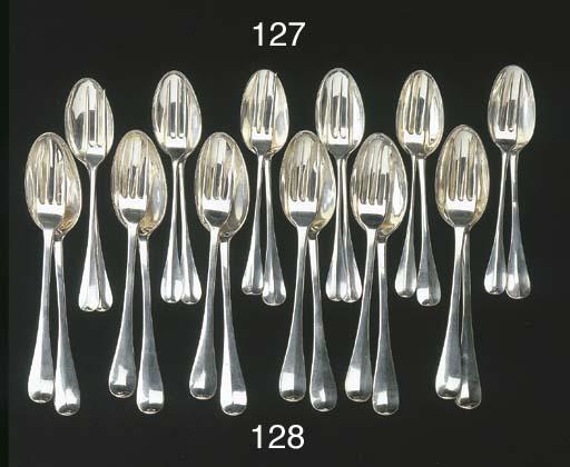 Six Dutch silver table forks a