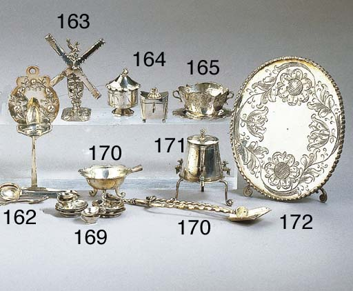 A Dutch silver minature spoon