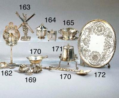 A Dutch silver tea caddy with