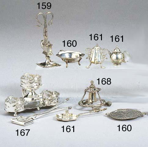 A Dutch silver miniature walki