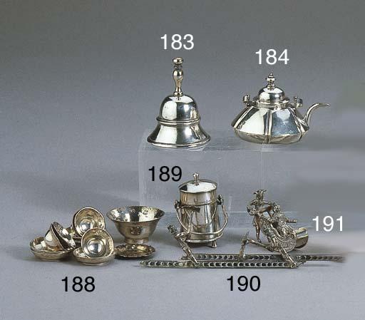 A Dutch silver miniature table