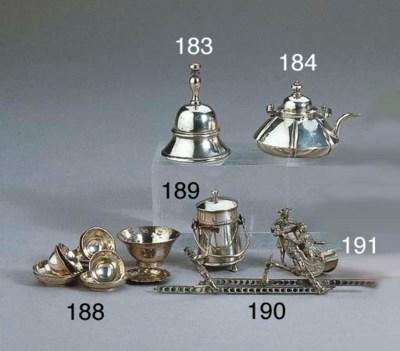 A Dutch silver miniature hot-w