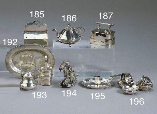 A Dutch silver miniature flat