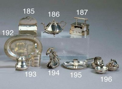 Six Dutch silver miniature tea