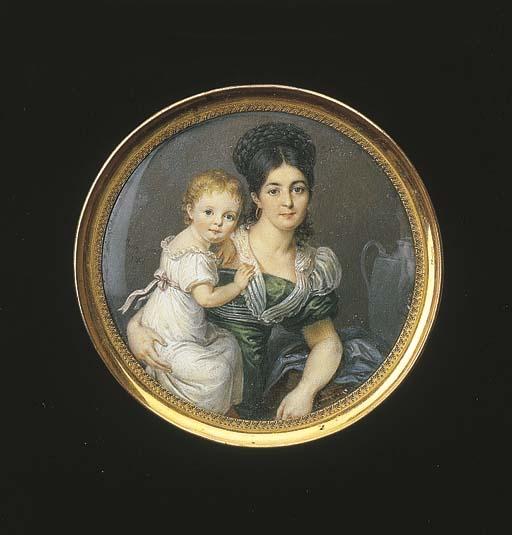 A portrait miniature, in a gil