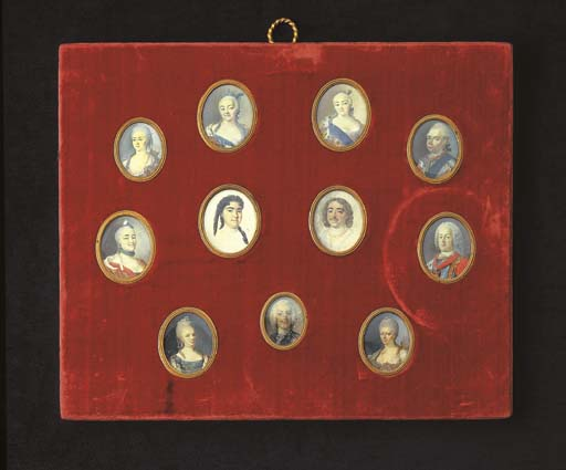 A set of eleven various portra