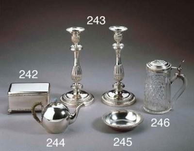 A small Russian silver teapot