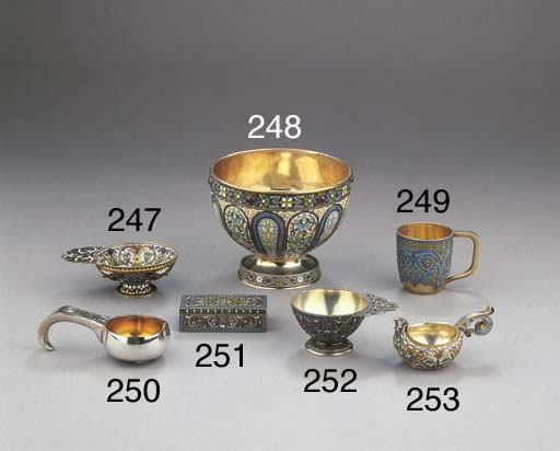 A Russian parcel-gilt and cloi