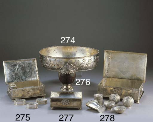 A Dutch silver colonial sirih
