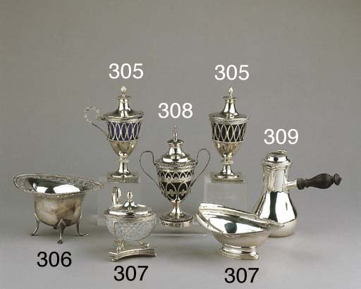 A small French silver coffee p