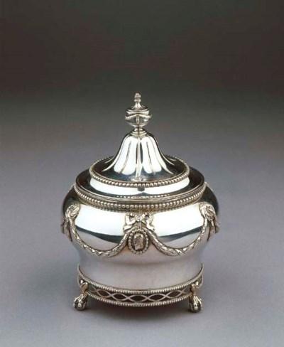 A Dutch silver tobacco-pot