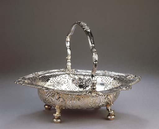 An English silver basket