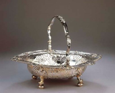An English silver basket