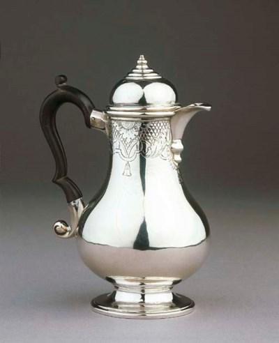 A small Dutch silver coffee po