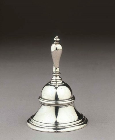 A small Dutch silver table bel