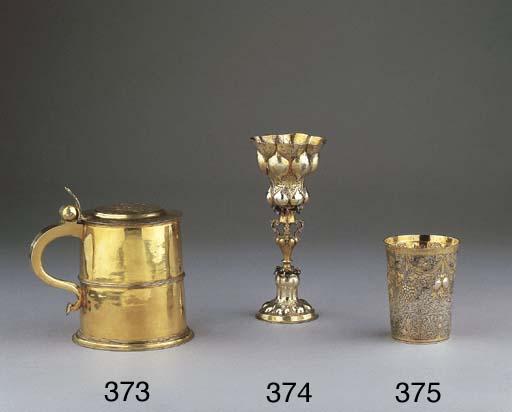 A silver-gilt niello beaker