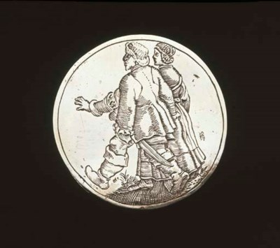 A Dutch silver marriage medal