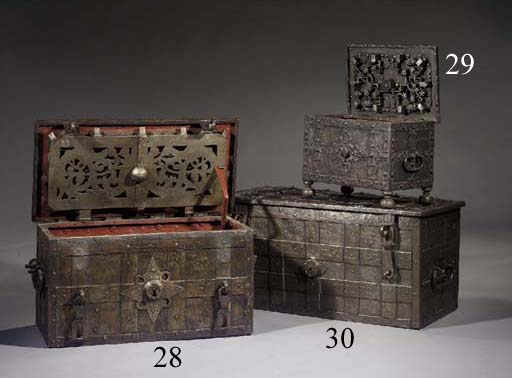A miniature iron armada chest