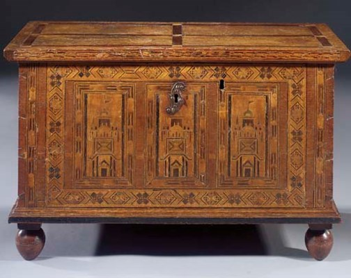 An Anglo-German oak, fruitwood