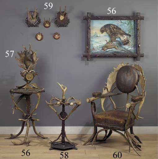 An antler occassional table