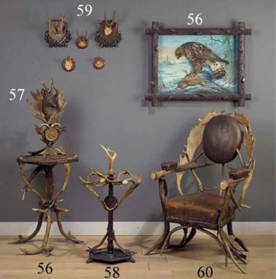 An antler armchair