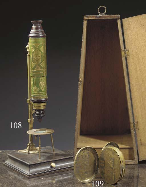 A Dutch brass tobacco-box
