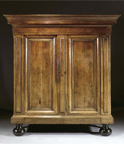 A Dutch walnut cupboard