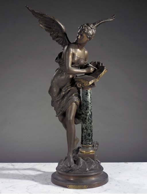 A bronze and verde antico grou