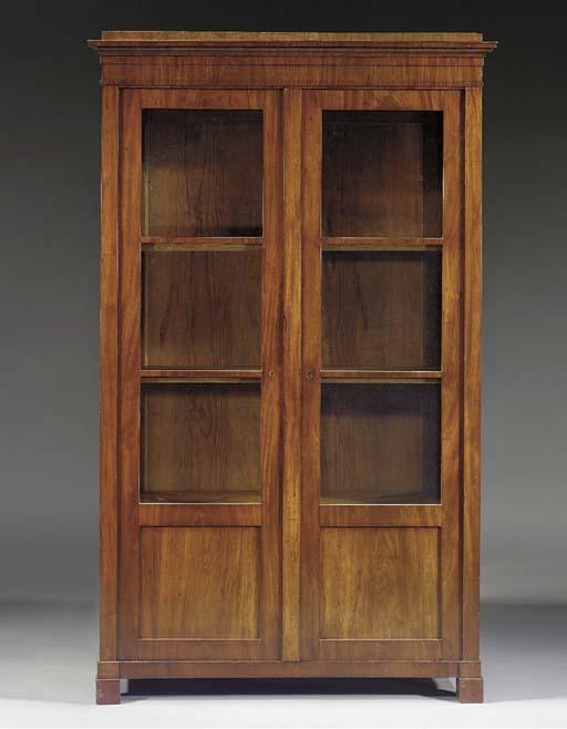 A German mahogany bookcase