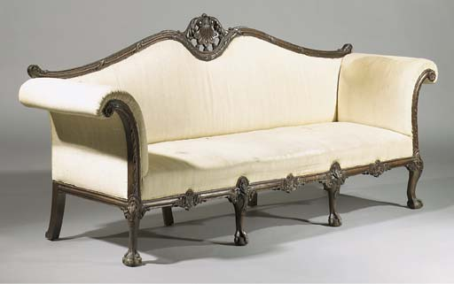 An English mahogany sofa