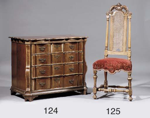 A Dutch walnut side chair