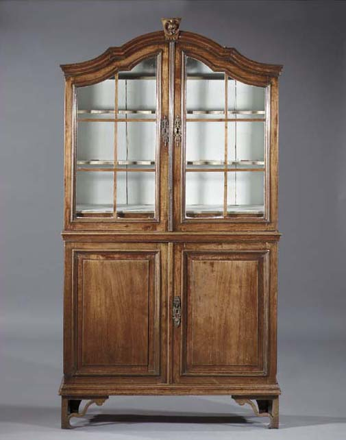 A Dutch stained elm display ca