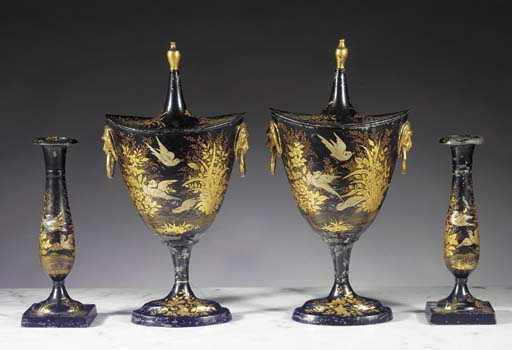A garniture of Dutch black, gi