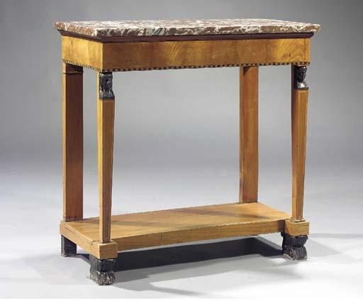 An Empire cherrywood console t