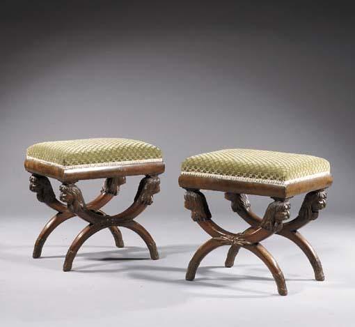 A pair of Dutch mahogany tabou