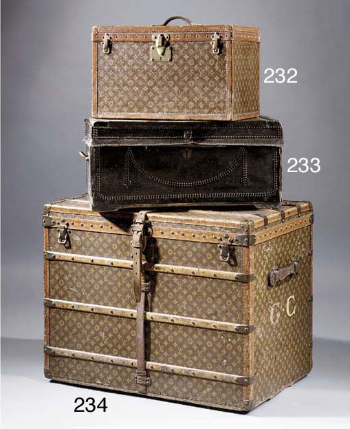 A Louis Vuitton trunk