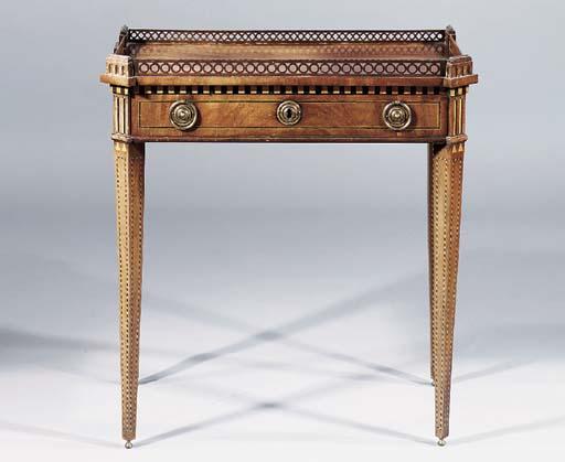 A Dutch mahogany side table