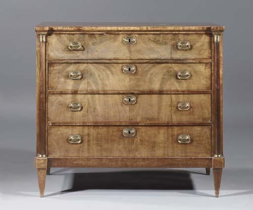 A Dutch mahogany commode