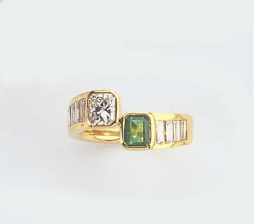 A DIAMOND AND EMERALD CROSSOVE