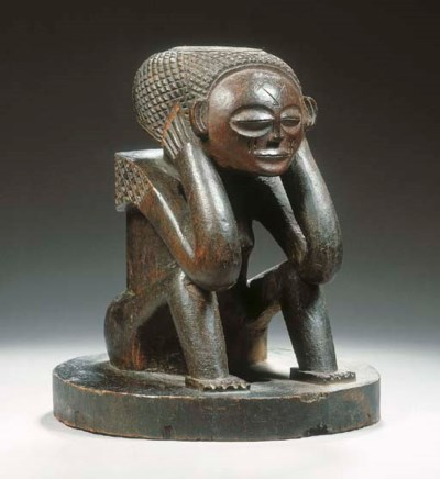 A CHOKWE STOOL SUPPORT