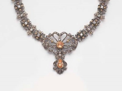 AN ANTIQUE ROSE DIAMOND AND TO