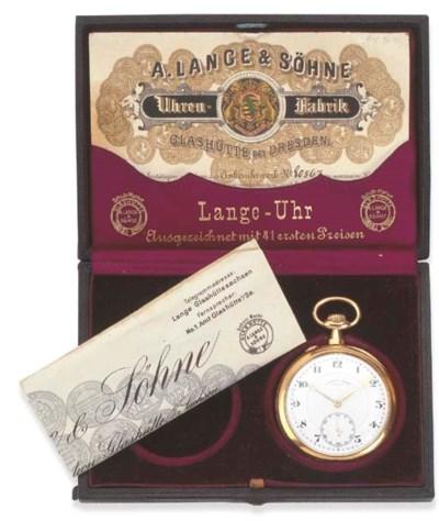 A. LANGE & SÖHNE. A 18K GOLD O