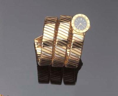 BULGARI. AN 18K GOLD
